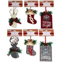 Candy Cane Tinsel Decor 30inl 4asst Colors Gov Xmas Hangtag
