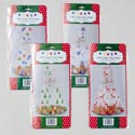 Cookie Tray Bag Cello 4pk W/ Ties&ribbon 4prints/12pc Merch- Strip/xmas Pb Insert/pbsleeve