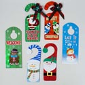 Doorknob Hanger 6ast Holiday Glittered Greetings Upc Label