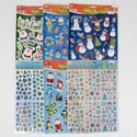 Stickers Christmas 6asst Designs Asst Counts On 12pc C/s 2 Per Pbsleeve/christmas Pbh