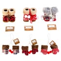 Diecut Ornament Shape Tray 2ast Green/red 8x8.75in 36pc Pdq Melamine Gov Christmas Upc Label