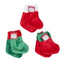 Stocking Mini 2pk 7in Deluxe** Plush 3ast Colors/12pc Merchstrp Christmas Ht W/jhook