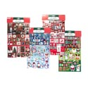 Sticker Christmas 3 Layer/4ast Laser/glitter 4clr Print Finish 24pc Merchstrip/pbsleeve/pbh