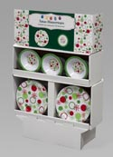 Dinnerware Melamine Snowflake/ Dot Design 96pc Floor Display 48pc 7.25in Bowl/48pc 11in Plate