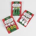 Bag Clips Holiday Shape 3pk 3in Tree/snowmn/santa 12pc Mdsgstrip Clipped Printed Christmas Car