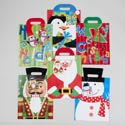 Gift Bag Large Christmas 6ast Christmas Icons W/felt Hat Hndls 10x12.5x5in J-hook/upc Label