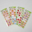 Sticker Puffy Tic-tac-toe 4asst Stocking Stuffer 12pc Mdsgstrip Pbh/ea Strip In Pb Sleeve