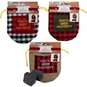 Coal 2pc Realistic Look Plst W/3ast Drawstring Pouch Youve Been Naughty Stitch/hdrcd