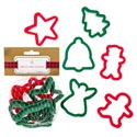 Cookie Cutters Christmas Plastic 6pk Approx 3in W/mesh Bag On 12pc Mdsgstrip/pbslv/header