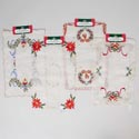 Doily/placemat Holiday Patterns 4 Embroidered 16.9x11in 100% Polyester/christmas Header Card