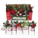 Christmas Pick Greenery Decor 9in 6ast Styles In 36pc Pdq Christmas Ht