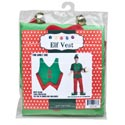 Elf Vest Felt W/bells Adult Use Costume/christmas Pbinsert