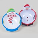 Bowl Melamine Round Christmas 2ast Santa/snowman Belly 100g 10x8in Christmas Label
