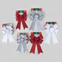 Bow Glitter 6x10 & 8x12in 3ast Red/silver/white Christmas Tcd
