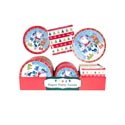 Paper Party Tableware Christmas 48pc Pdq Santa Band W/animal Fds 8ct Plate/napkin