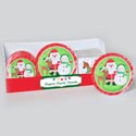 Paper Party Tableware 48pc Pdq Santa/snowman/reindeer Friends 8ct 7/9in Plate/16ct Napkin 13in