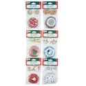 "Baking Cup Kit Christmas 6asst 24-2""cups/24-plastic Picks 12pc Mdgstrip/christmas Pbh"