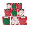 Doilies Xmas Print/solid Red & Green 9ast 12/16/20cts Pb/insert