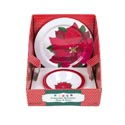 Dinnerware Poinsetta Melamine 11in Plate/7.25in Bowl 32pc Pdq