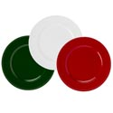 Charger 13in Plate Christmas Red/green/pearl White Plastic Upc Label/for Decorative Use