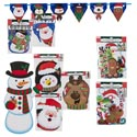 Christmas Paper Decor 8ast 4 Jointed/2 Banner/2 Cutout Sets