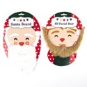 Elf Or Santa Facial Hair/beard Christmas Tie In Card