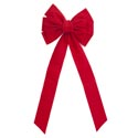 Bow Red Velvet 11.5w X 26in L 10-loop Christmas Tcd ** No Amazon Sales **