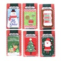 Gift Card Holder 6ast W/pvc Pop Up Xmas Blister Card