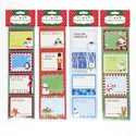 Gift Tag Kitchen Labels 32ct 4 Xmas Designs/12pc Mdsg Strip Oppbag/hdr