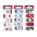 Gift Tags Paper 25ct W/strings 3ast Hotstamp Combos Xmas Pbh Gift Tag 4.3 X 1.9in