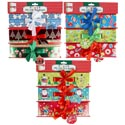 Gift Box Paper Belly Band 3pk 3asst Xmas Print Combos