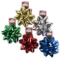 Gift Bow Christmas Giant 8in Dia 5ast Metallic Colors Christmas Tcd