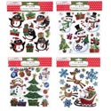 Stickers Laser 4asst Christmas Metallic Prts On 12pc Mdsgstrip Christmas Oppbag Headr