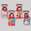 Gift Bag Small 3pk Christmas 12asst Designs 5.25 X4.25x 2.25 Christmas Barbell Header