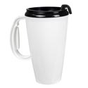Travel Mug W/lid 16oz White Plastic # Jny-1-001