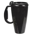 Travel Mug W/lid 16oz Black Plastic # Jny-1-009