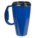 Travel Mug W/lid 16oz Blue Plastic # Jny-1-294