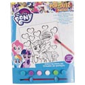 Paint Kit My Little Pony Coloring Board,6 Paints,1 Brush