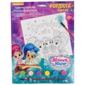 Paint Kit Shimmer And Shine Coloring Board,6 Paints,1 Brush