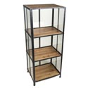 Bookcase 3 Tier Viking 20x15x48 Silver/natural *229.99* See N2 Brown Box W/line Art #413533