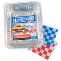 Aluminum Roasters /baking Pans Layers 50 Ct Display W/lids 32 Roasters 28 Baking Pans